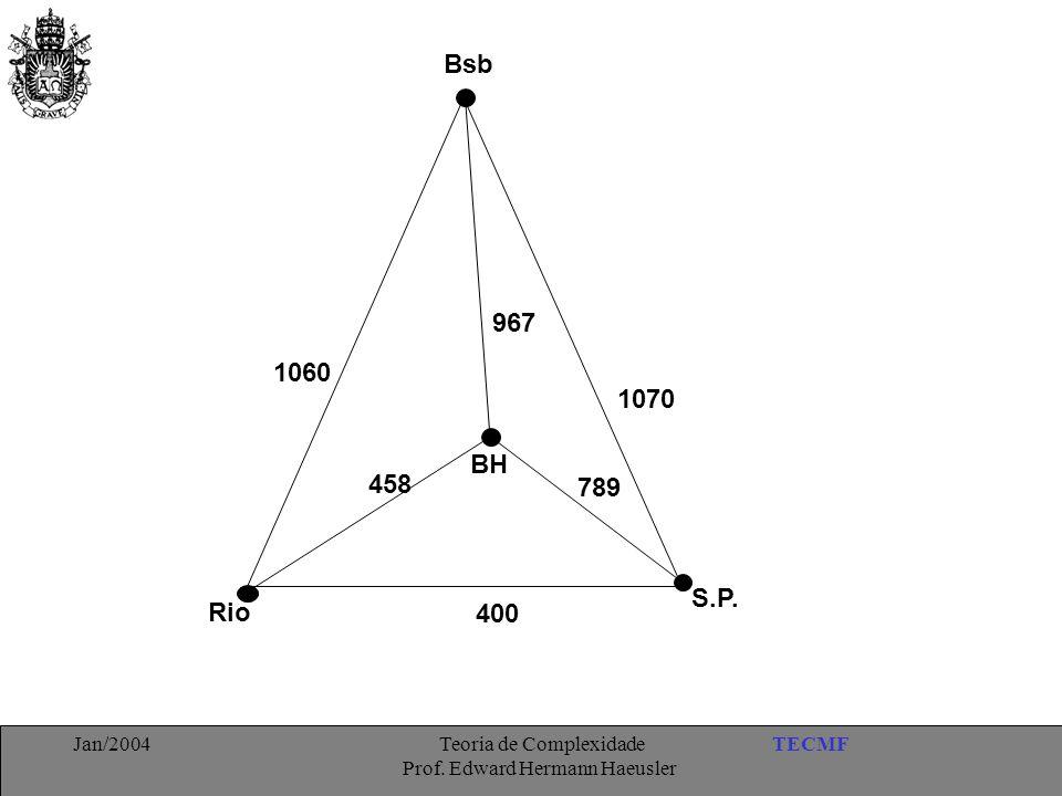 TECMFJan/2004 Teoria de Complexidade Prof. Edward Hermann Haeusler Bsb 967 1060 458 BH 789 400 Rio S.P. 1070