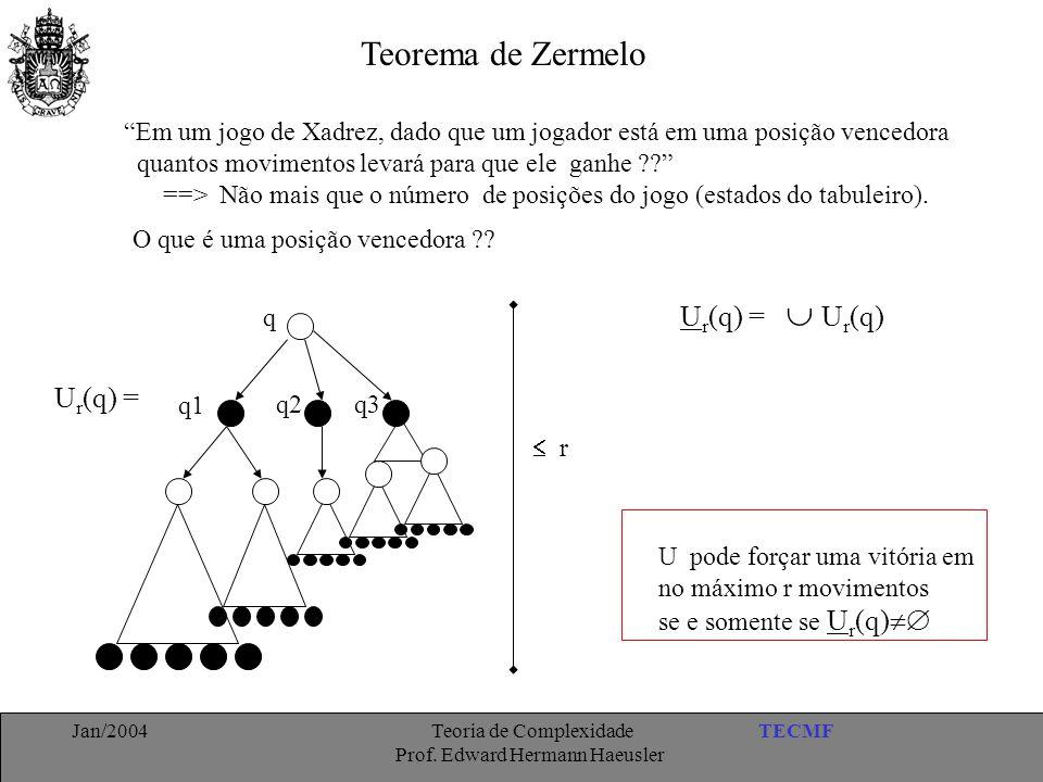 """TECMFJan/2004 Teoria de Complexidade Prof. Edward Hermann Haeusler Teorema de Zermelo """"Em um jogo de Xadrez, dado que um jogador está em uma posição v"""