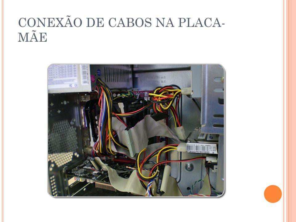 CONEXÃO DE CABOS NA PLACA- MÃE