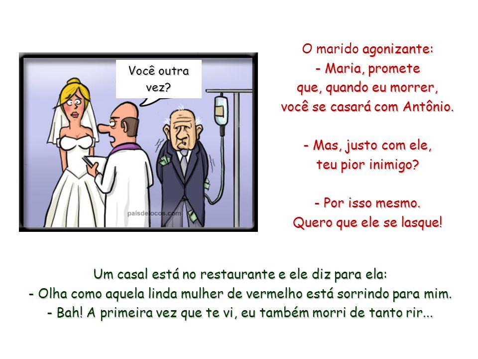 O casamento evolui como a tecnologia... Segundo, etapa CD. Ele cede em tudo... E por último, etapa DVD. Divide a casa, divide o salário, divide o auto