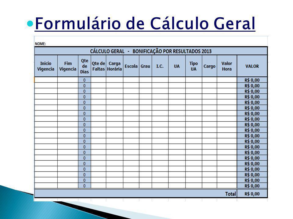 Formulário de Cálculo Geral