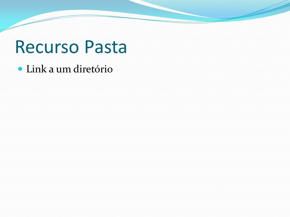 Recurso Pasta Link a um diretório