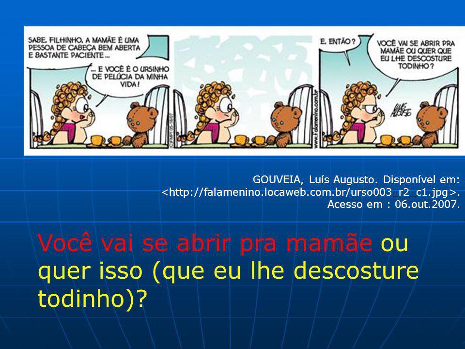 GOUVEIA, Luís Augusto. Disponível em:. Acesso em : 06.out.2007.