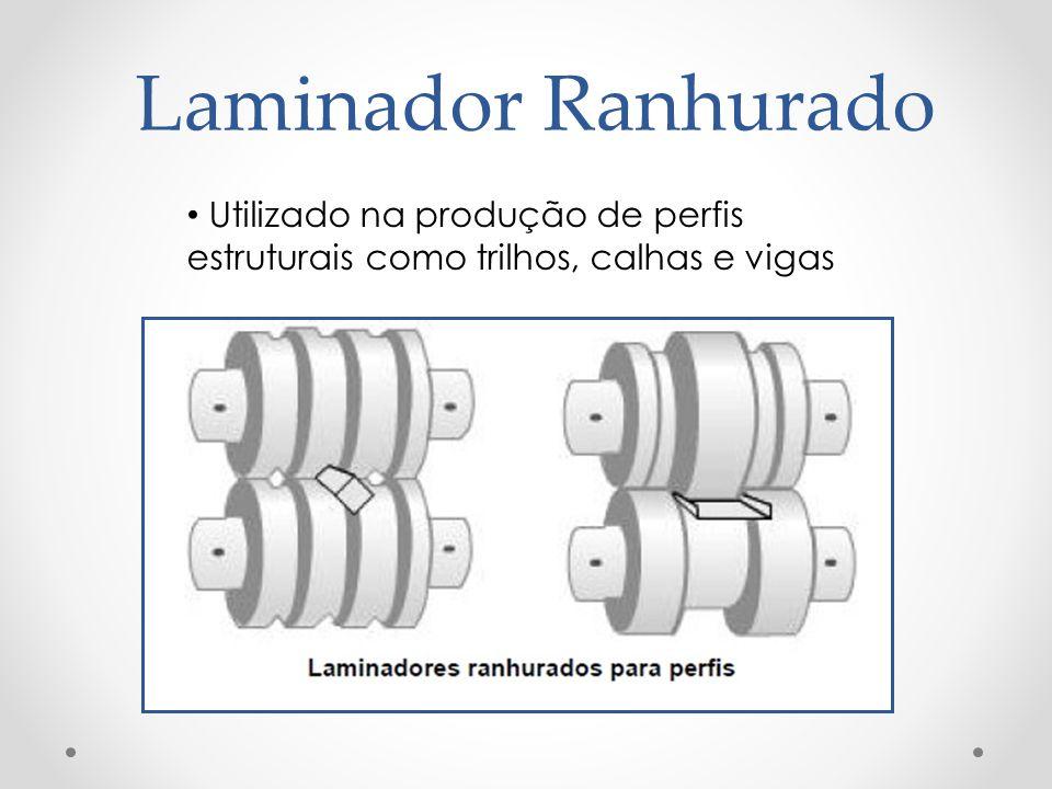 Laminador Ranhurado Utilizado na produção de perfis estruturais como trilhos, calhas e vigas