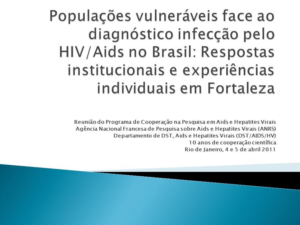 Reunião do Programa de Cooperação na Pesquisa em Aids e Hepatites Virais Agência Nacional Francesa de Pesquisa sobre Aids e Hepatites Virais (ANRS) Departamento de DST, Aids e Hepatites Virais (DST/AIDS/HV) 10 anos de cooperação científica Rio de Janeiro, 4 e 5 de abril 2011