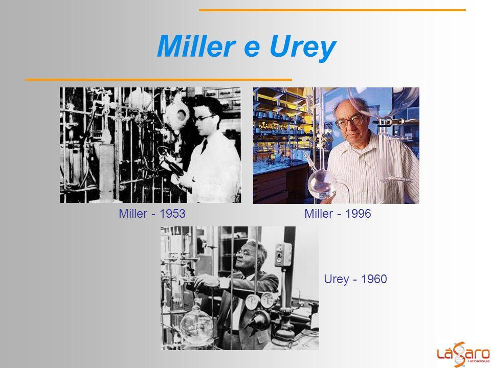 Miller e Urey Miller - 1996Miller - 1953 Urey - 1960