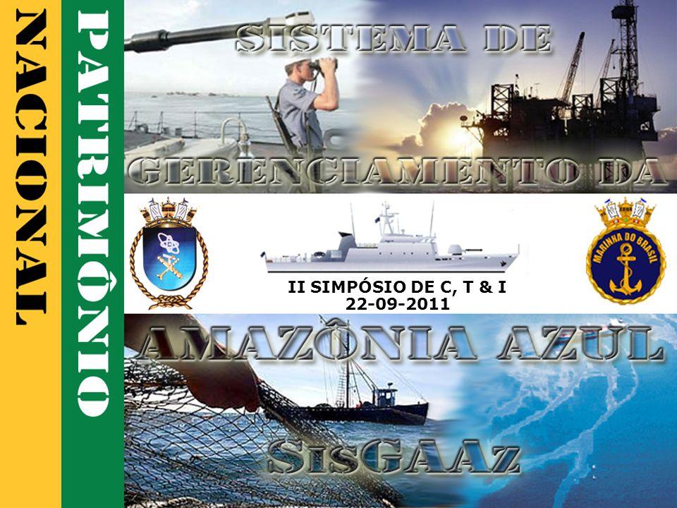 SisGAAz - 12 A AMAZÔNIA AZUL Comércio Exterior Costa do Brasil 278 NM/dia 95% realizado por via marítima Europa 215 NM/dia América do Norte 101 NM/dia Pacífico e Cone Sul 26 NM/dia Golfo da Guiné 17 NM/dia US $ 370 bilhões em 2010 (1) Custo do Frete US$ 12 Bilhões A interrupção do tráfego marítimo internacional poderia ocasionar o colapso da economia brasileira Tráfego Marítimo (maio 2011) Sul da África e Oriente 268 NM/dia (1) Fonte: sítio do Ministério do Desenvolvimento, Indústria e Comércio Exterior, em 17JUN2011