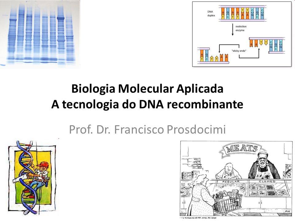 Biologia Molecular Aplicada A tecnologia do DNA recombinante Prof. Dr. Francisco Prosdocimi
