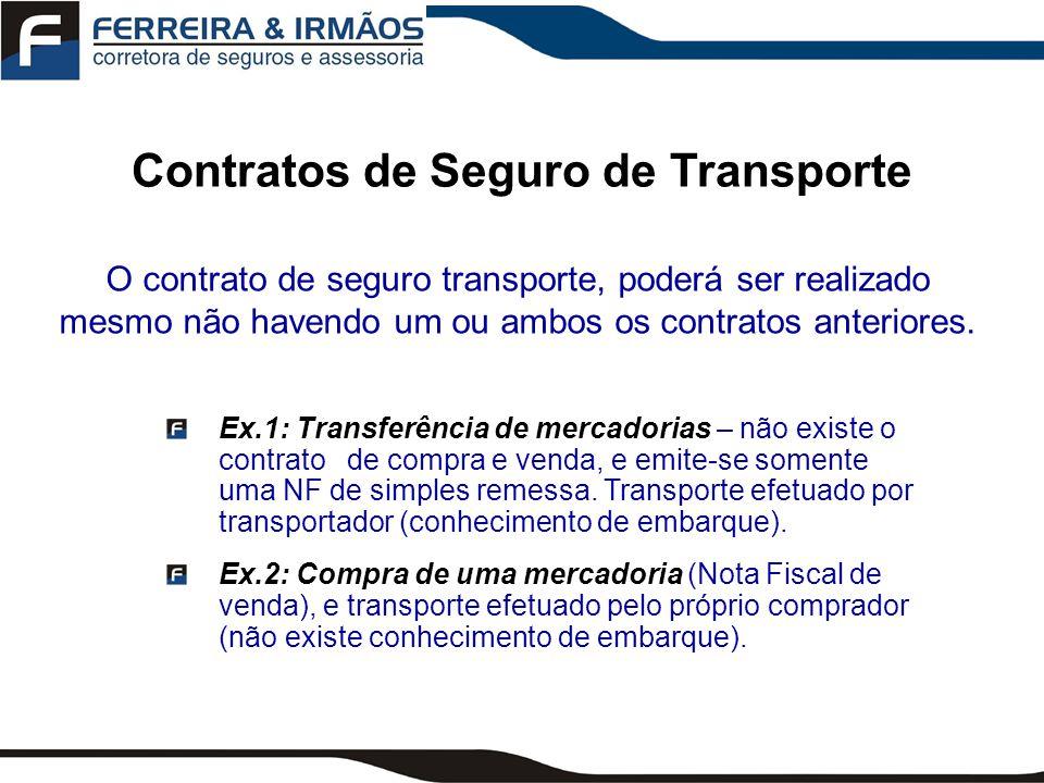 Instrumento do Contratos de Seguro de Transporte Questionário Apólice Averbação