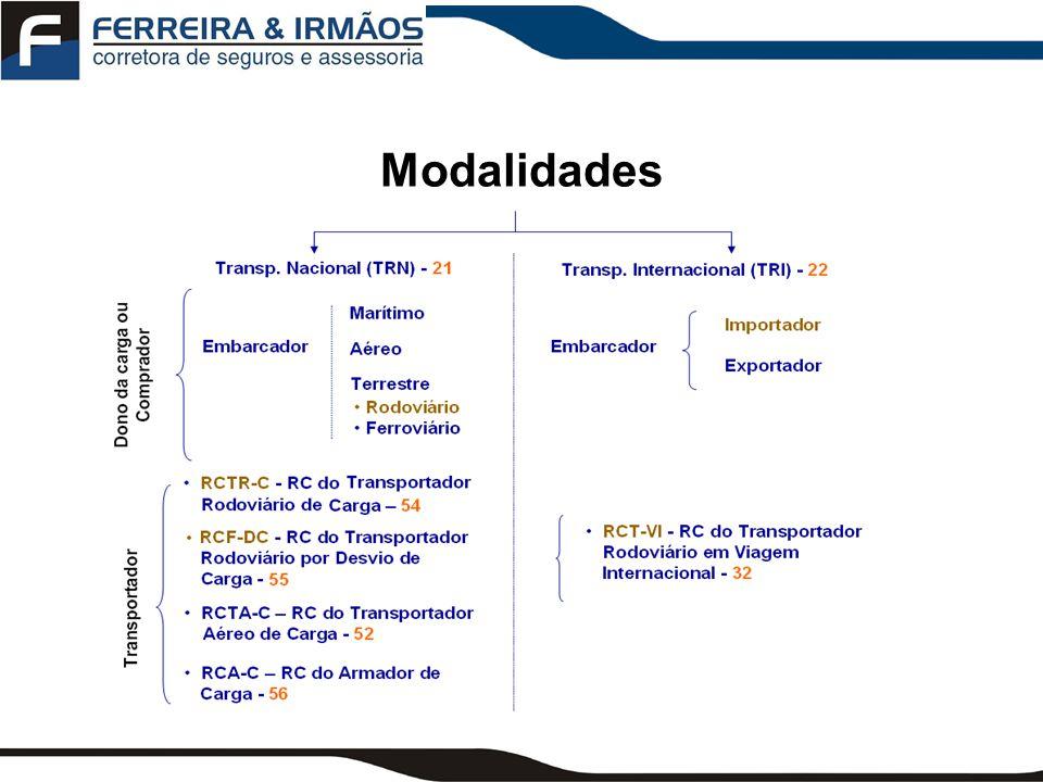 Seguros para Embarcadores principais AMPLAS (A) RESTRITA (C) Condições Gerais Coberturas Básicas Coberturas Adicionais Clausulas Específicas