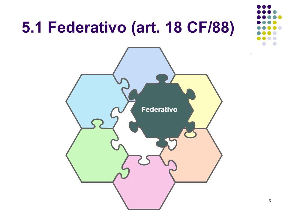 6 5.1 Federativo (art. 18 CF/88) Federativo