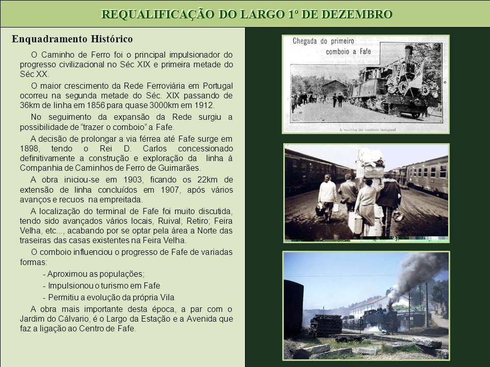 Enquadramento Histórico O Caminho de Ferro foi o principal impulsionador do progresso civilizacional no Séc XIX e primeira metade do Séc XX. O maior c