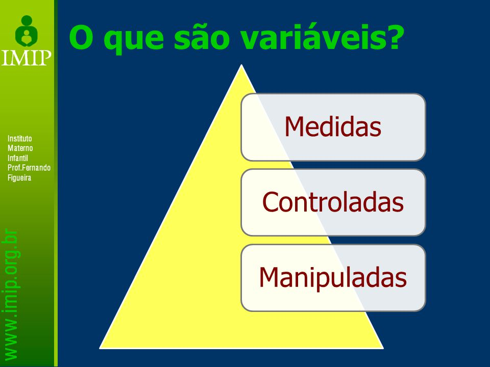 O que são variáveis MedidasControladasManipuladas