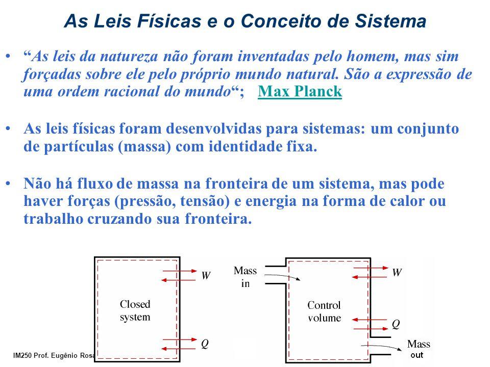 """IM250 Prof. Eugênio Rosa As Leis Físicas e o Conceito de Sistema """"As leis da natureza não foram inventadas pelo homem, mas sim forçadas sobre ele pelo"""