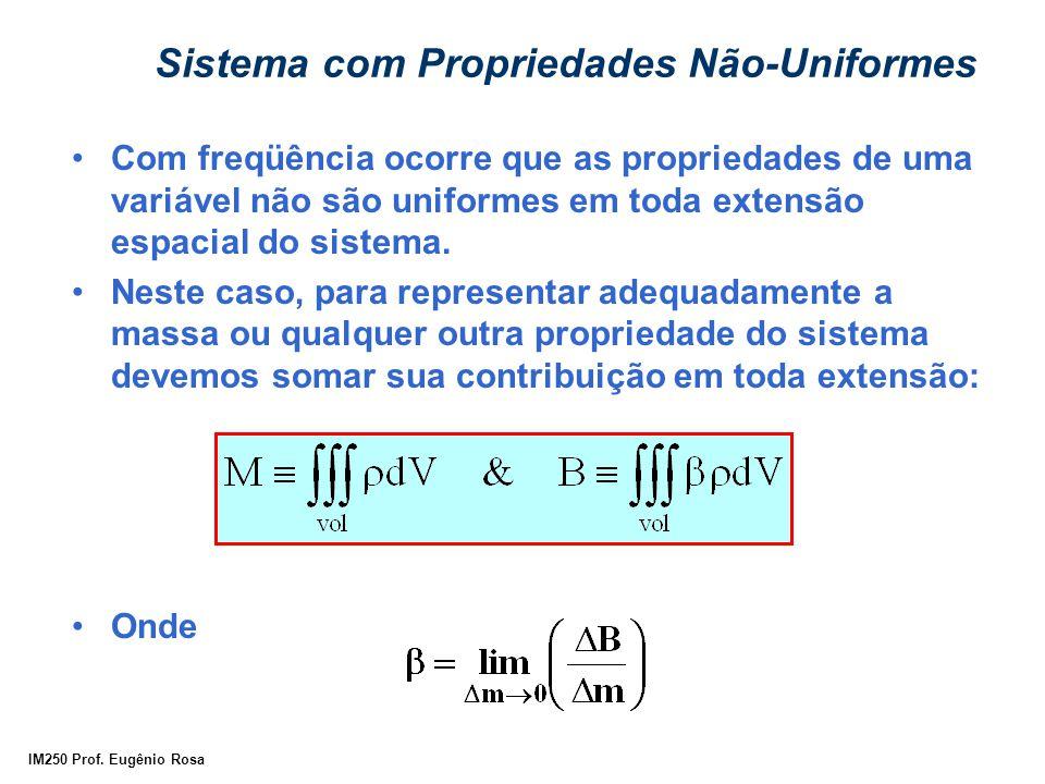 IM250 Prof. Eugênio Rosa Sistema com Propriedades Não-Uniformes Com freqüência ocorre que as propriedades de uma variável não são uniformes em toda ex