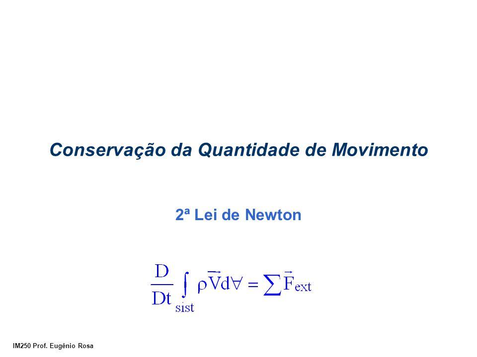 IM250 Prof. Eugênio Rosa Conservação da Quantidade de Movimento 2ª Lei de Newton