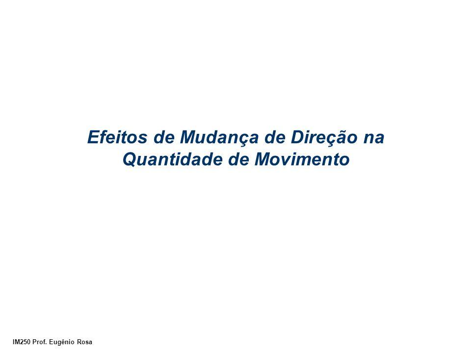 IM250 Prof. Eugênio Rosa Efeitos de Mudança de Direção na Quantidade de Movimento