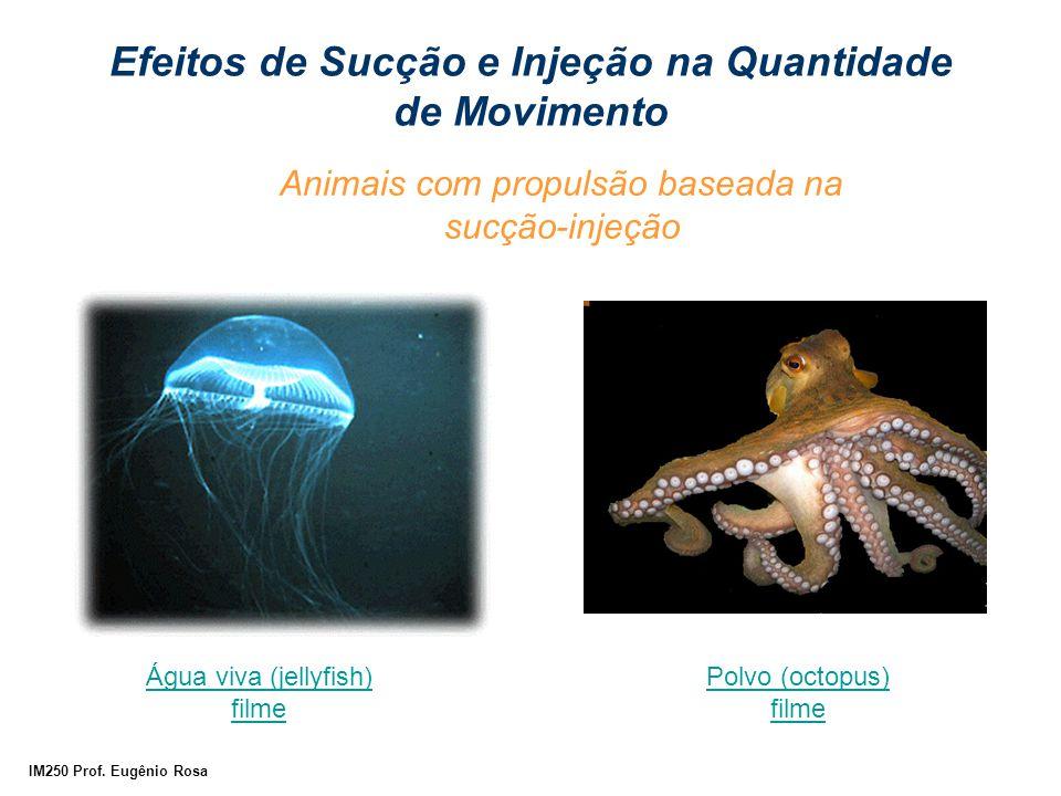 IM250 Prof. Eugênio Rosa Animais com propulsão baseada na sucção-injeção Água viva (jellyfish) filme Polvo (octopus) filme Efeitos de Sucção e Injeção