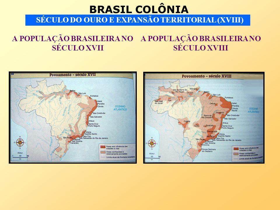 BRASIL COLÔNIA SÉCULO DO OURO E EXPANSÃO TERRITORIAL (XVIII) A POPULAÇÃO BRASILEIRA NO SÉCULO XVII A POPULAÇÃO BRASILEIRA NO SÉCULO XVIII