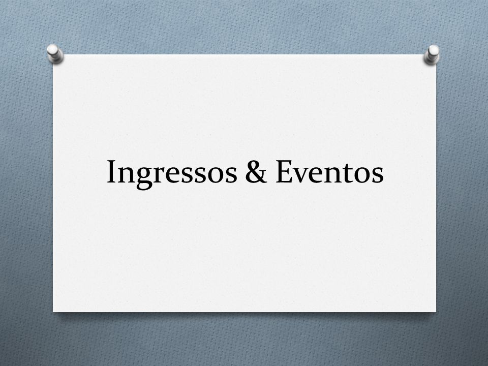 Escolha a nova opção Ingressos & Eventos .