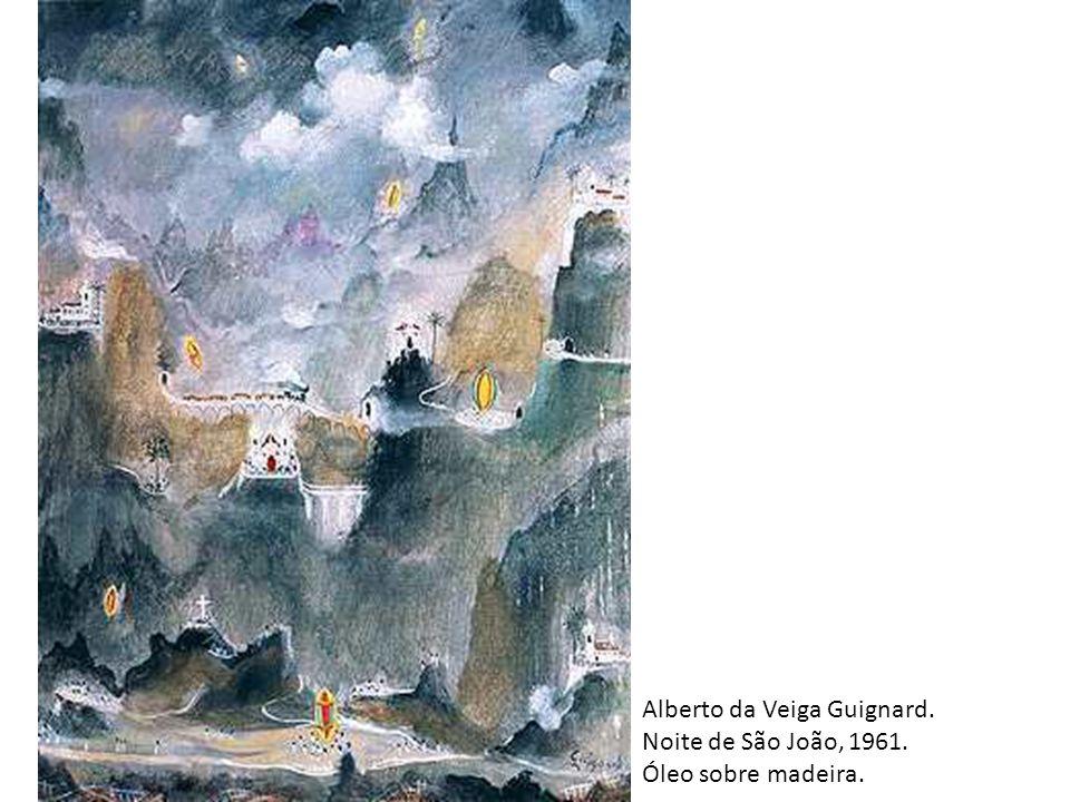Alberto da Veiga Guignard. Noite de São João, 1961. Óleo sobre madeira.