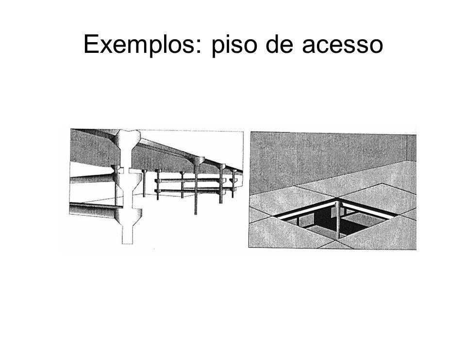 Exemplos: piso de acesso
