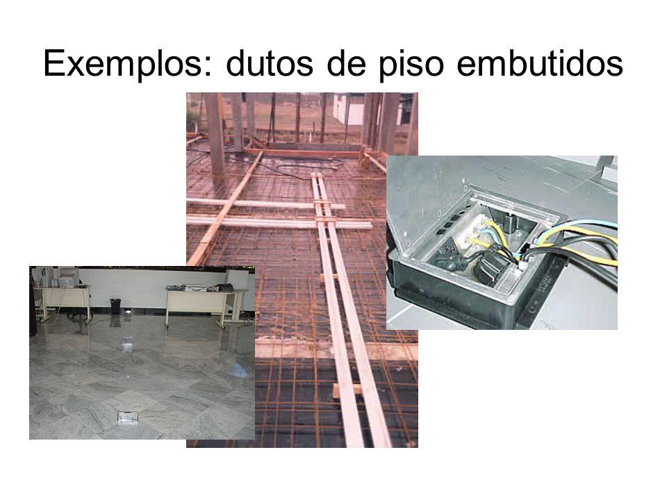 Exemplos: dutos de piso embutidos