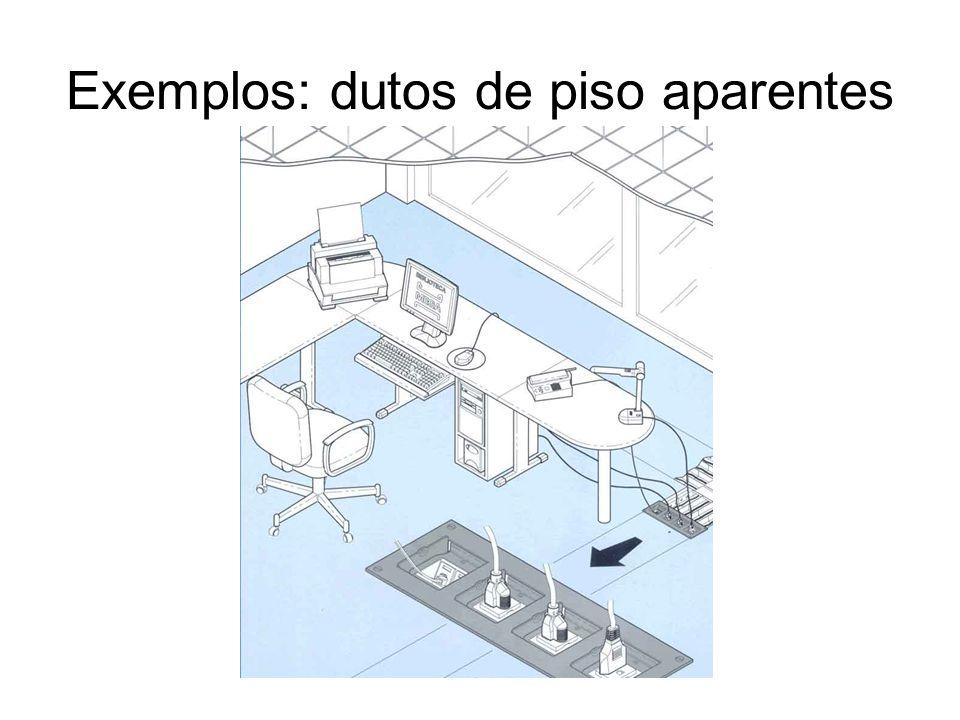 Exemplos: dutos de piso aparentes