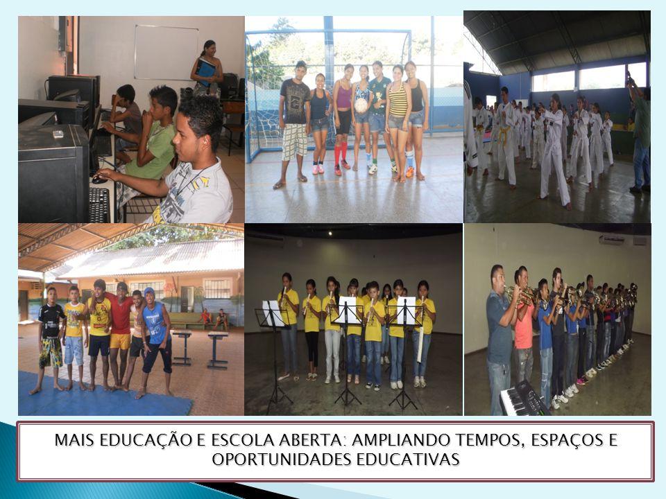MAIS EDUCAÇÃO E ESCOLA ABERTA: AMPLIANDO TEMPOS, ESPAÇOS E OPORTUNIDADES EDUCATIVAS
