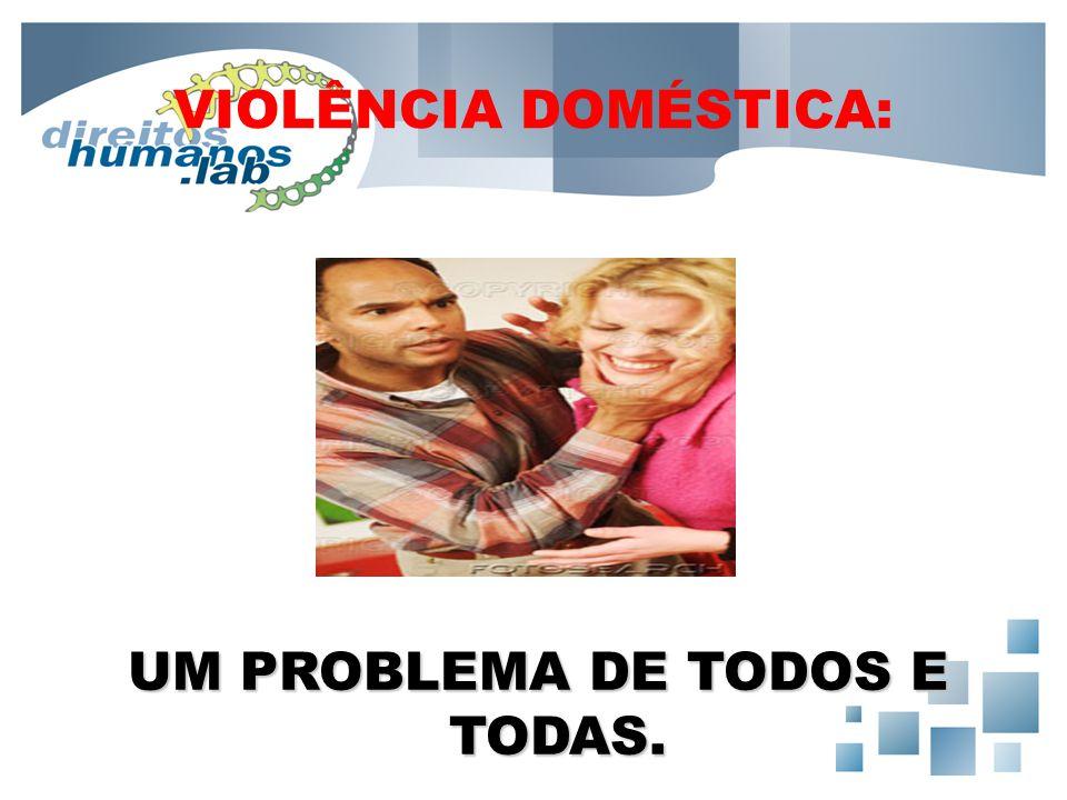 VIOLÊNCIA DOMÉSTICA: UM PROBLEMA DE TODOS E TODAS.