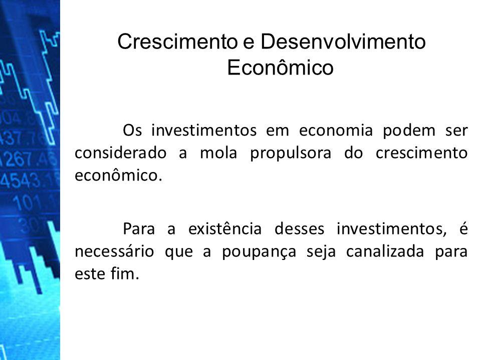 Os investimentos em economia podem ser considerado a mola propulsora do crescimento econômico.