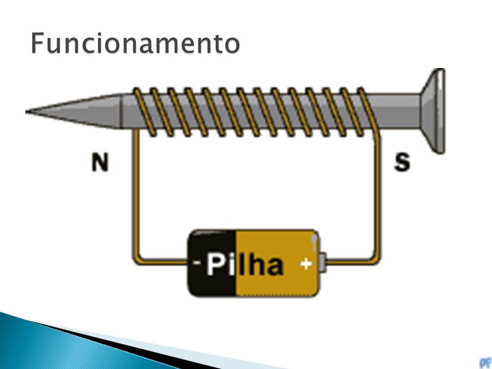 Um eletroímã começa com uma fonte de energia e fios. Por exemplo, se enrolarmos o fio ao redor de um prego 10 vezes, conectar o fio à uma pilha e traz