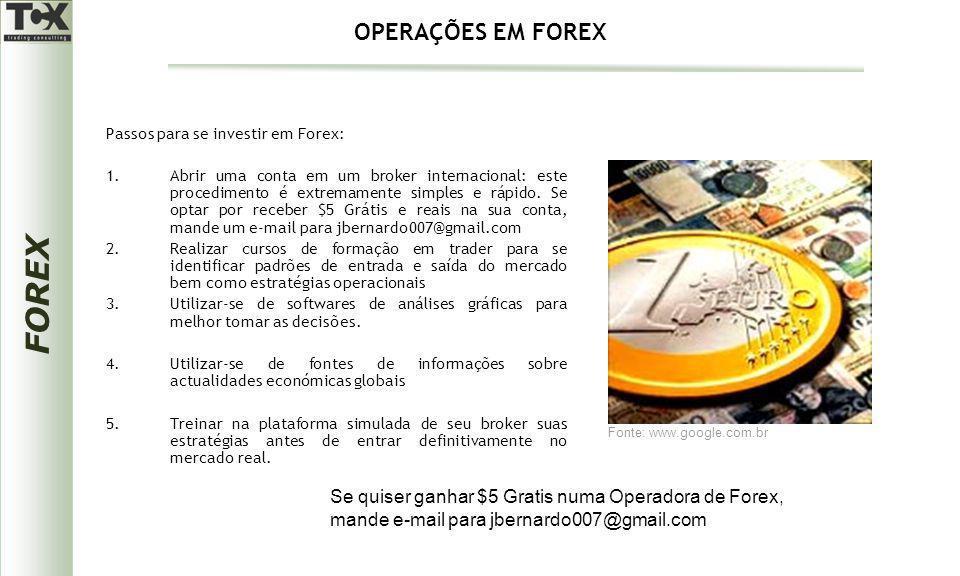 FOREX Passos para se investir em Forex: 1.Abrir uma conta em um broker internacional: este procedimento é extremamente simples e rápido. Se optar por