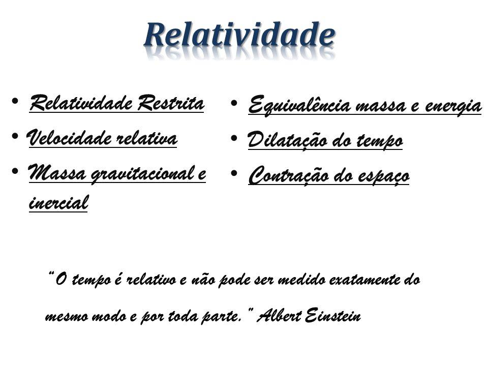 Relatividade Restrita as leis da Física são as mesmas em todos os sistemas de referência inercial .