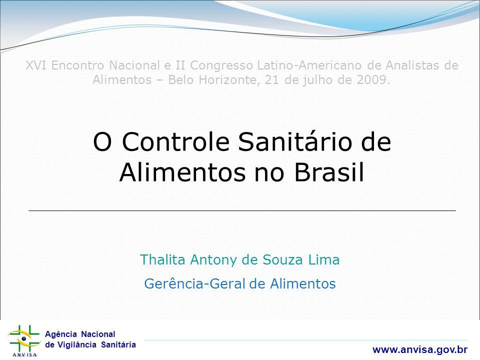 Agência Nacional de Vigilância Sanitária www.anvisa.gov.br Agência Nacional de Vigilância Sanitária www.anvisa.gov.br O Controle Sanitário de Alimento