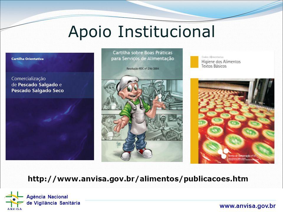 Agência Nacional de Vigilância Sanitária www.anvisa.gov.br Agência Nacional de Vigilância Sanitária www.anvisa.gov.br Apoio Institucional http://www.a
