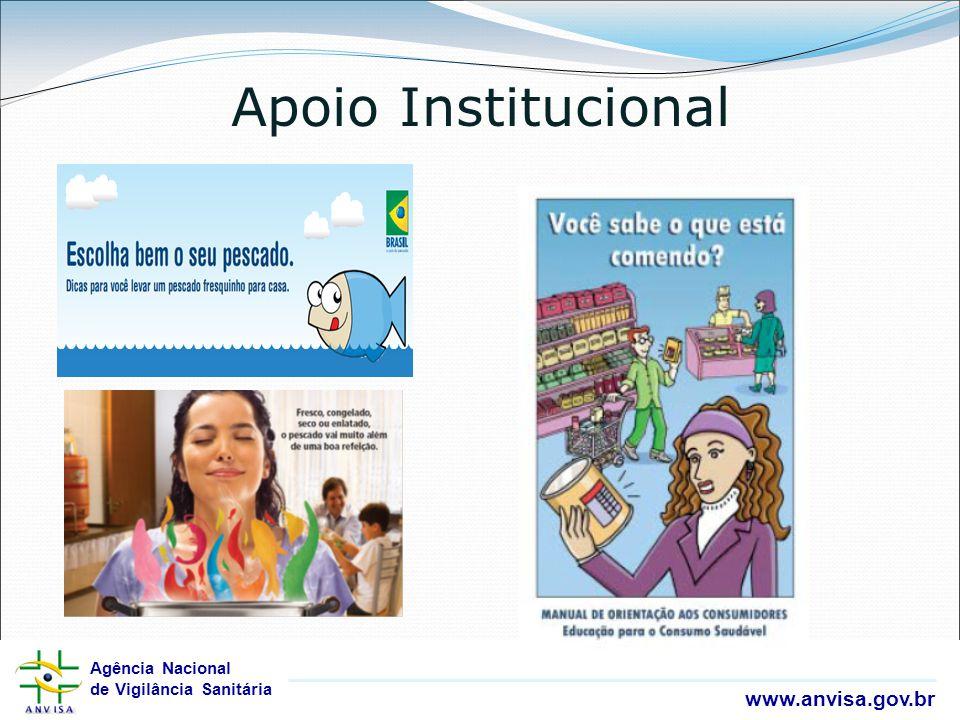 Agência Nacional de Vigilância Sanitária www.anvisa.gov.br Agência Nacional de Vigilância Sanitária www.anvisa.gov.br Apoio Institucional