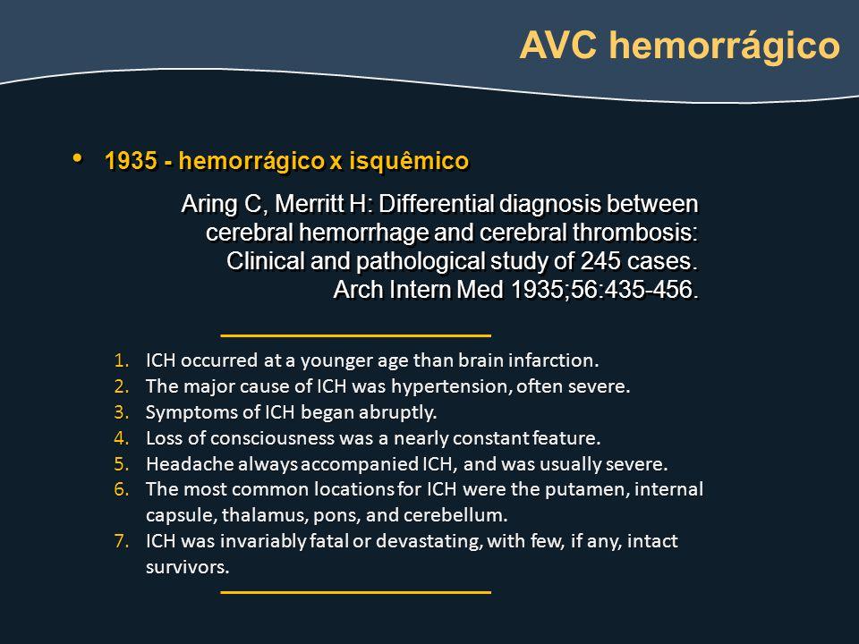 quadro clinico Quadro clínico: Paralisia do II nervo (oculomotor): artéria comunicante posterior / carótida interna (mais raramente artéria basilar ou cerebelar superior) Hemiparesia, disfasia: artéria cerebral média (malformação arterio- venosa, hematoma cerebral na fissura de Sylvius) Alterações de comportamento, paraparesia: artéria comunicante anterior Ataxia cerebelar, síndrome de Wallenberg: artéria vertebral (dissecção) Paralisia de IX ou X nervo, síndrome de Horner: artéria vertebral (dissecção)