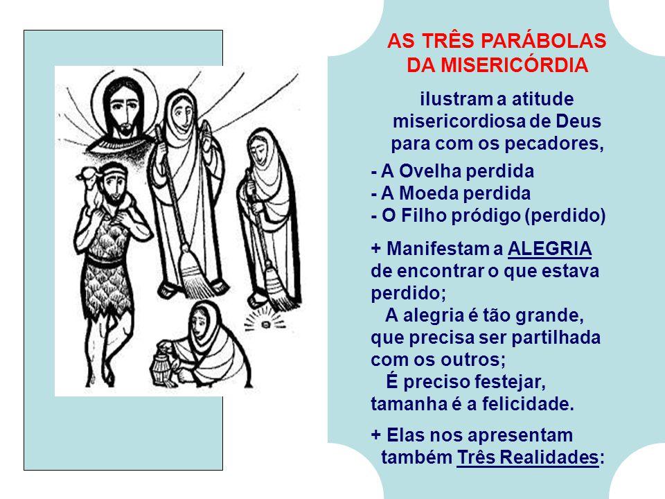 No Evangelho: Jesus fala da MISERICÓRDIA de Deus para com os Pecadores: (Lc 15,1-32) - Na Introdução, os fariseus criticam Cristo porque