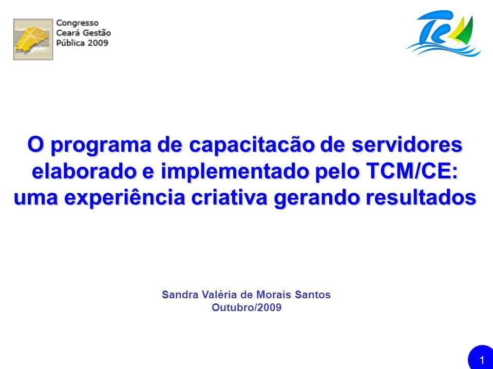 TRIBUNAL DE CONTAS DOS MUNICÍPIOS DO ESTADO DO CEARÁ 12 www.tcm.ce.gov.br sandravaleria@tcm.ce.gov.br OBRIGADA.