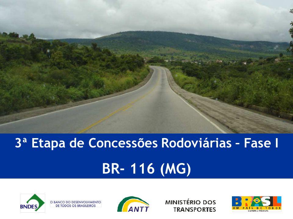 3ª Etapa de Concessões Rodoviárias – Fase I BR- 116 (MG)