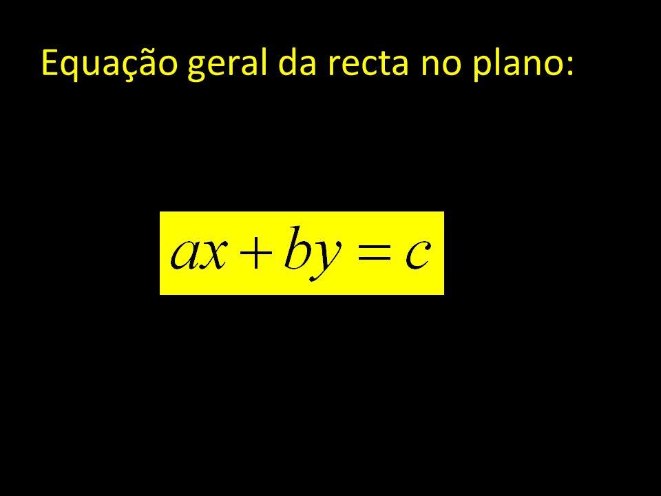 Equação geral da recta no plano: