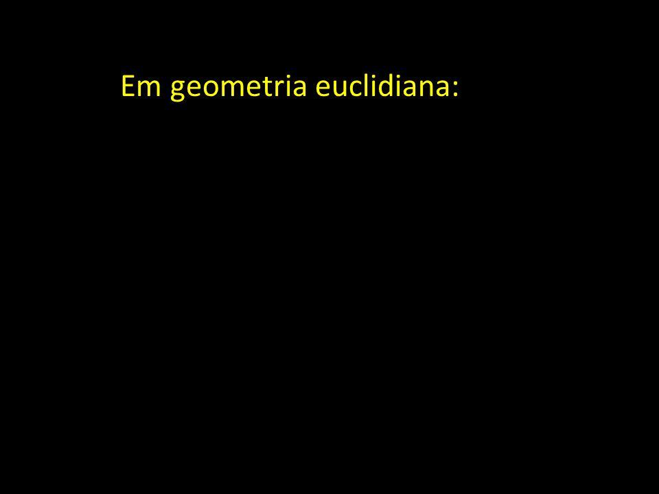 Rectas ortogonais: A recta L definida por { A +  u } é ortogonal à recta L' definida por { B +  v } se os vectores u e v forem ortogonais, isto é se u.