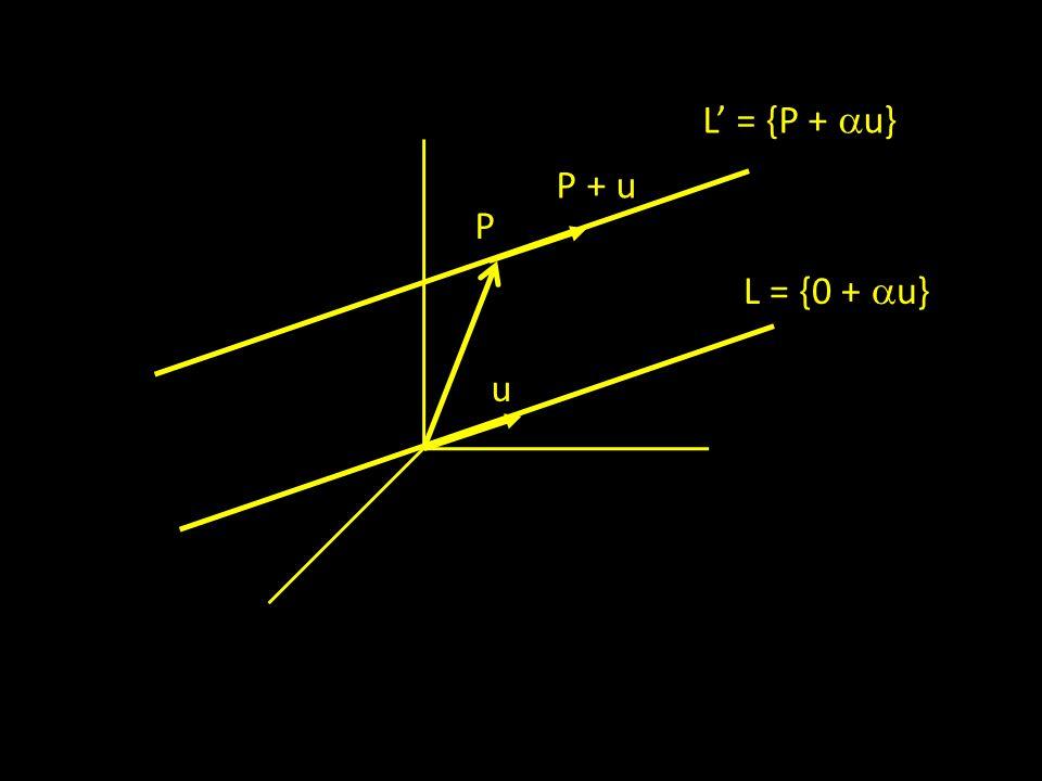 u P + u P L = {0 +  u} L' = {P +  u}