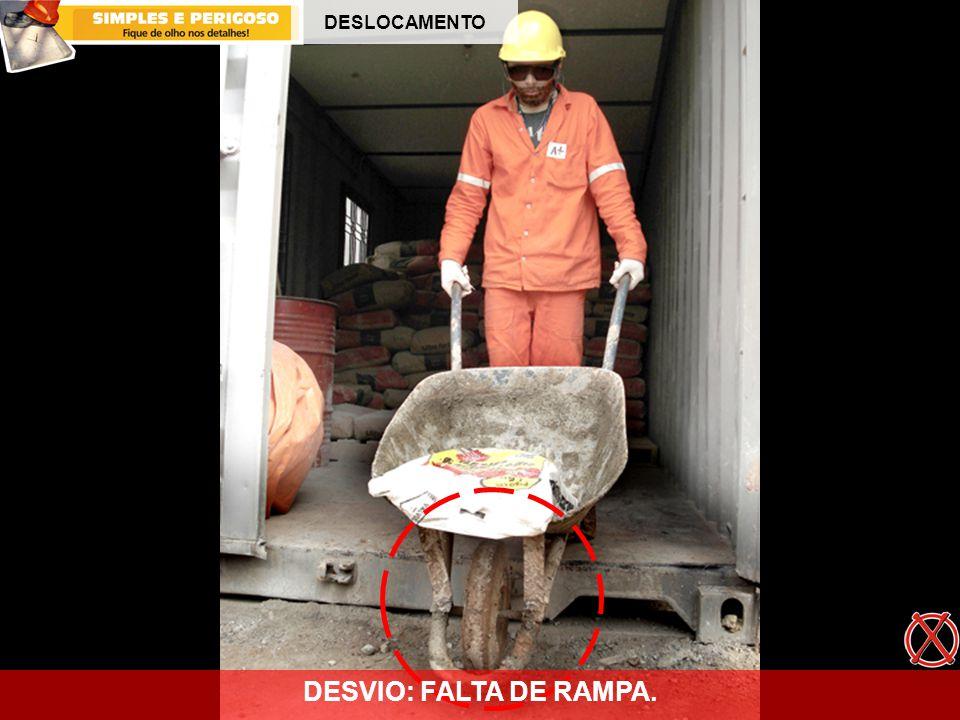 DESLOCAMENTO DESVIO: FALTA DE RAMPA.