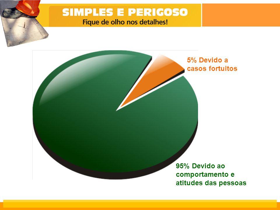 5% Devido a casos fortuitos 95% Devido ao comportamento e atitudes das pessoas