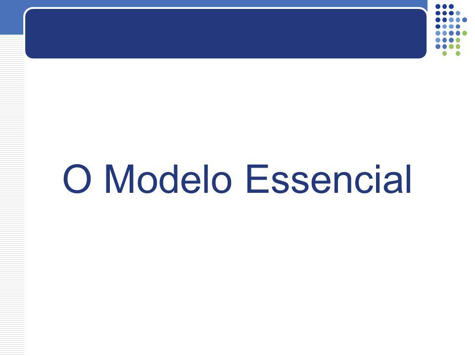  Modelo essencial está focado nos aspectos mais essenciais e fundamentais do problema.