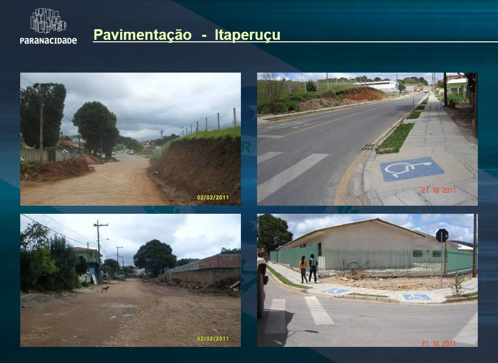 Pavimentação - Itaperuçu