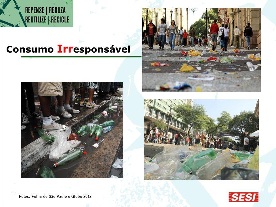  Produziu 62 milhões de ton./ano  Coletou 87% do lixo produzido na área urba na O Brasil em 2011 Fontes: Pesquisas ABRELPE 2010 e 2011 e IBGE 2010 e 2011