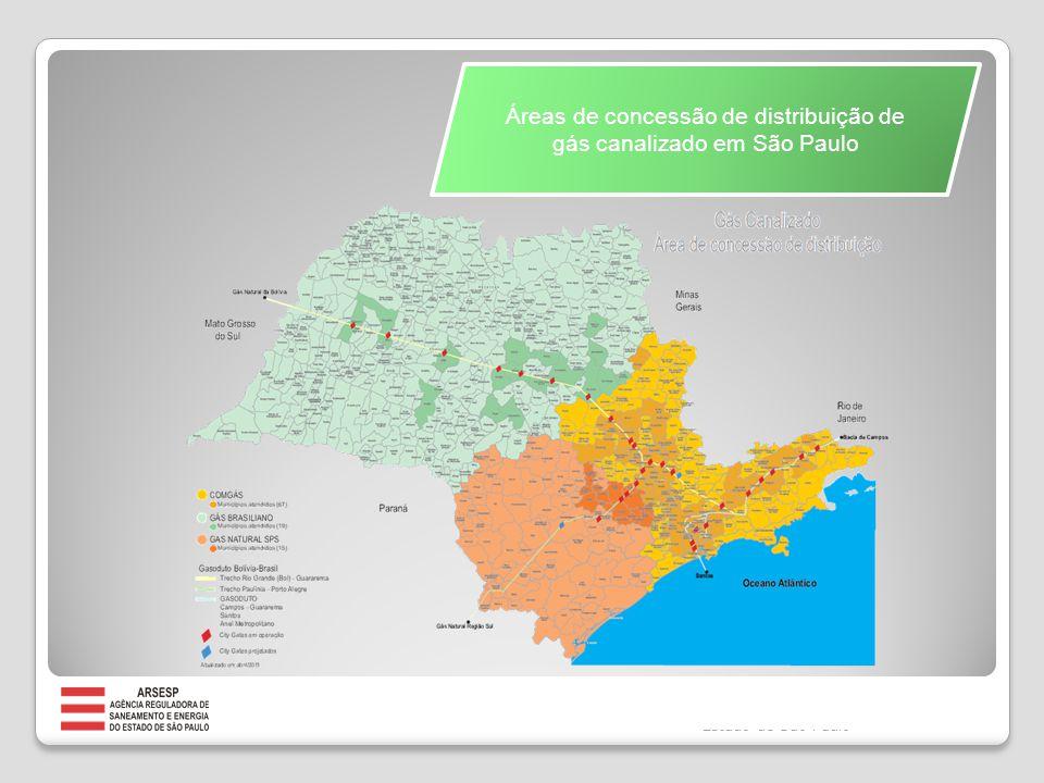 Disponibilidade e Infraestrutura São Paulo é o centro da malha de transporte de gás natural da região Sudeste, interligada à malha nacional, através da qual é transportado todo o gás produzido e importado pelo Brasil.